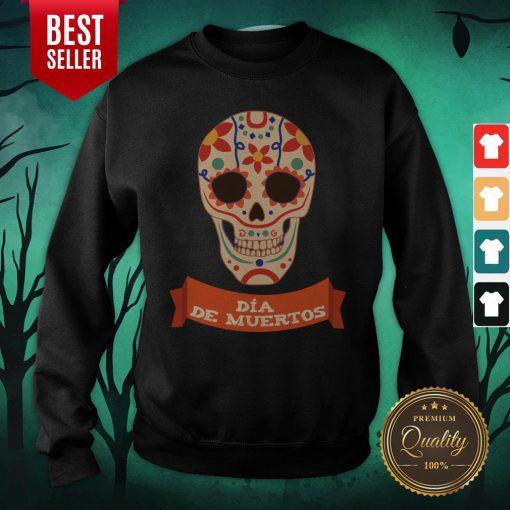 Sugar Dead Dia De Muertos Sweatshirt - Design By Earstees.com