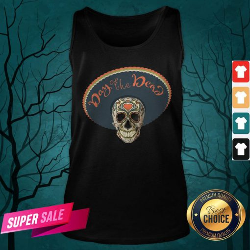 Sugar Skull Day Of The Dead Muertos In Mexican Tank Top