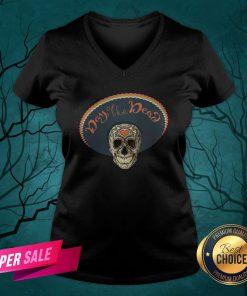 Sugar Skull Day Of The Dead Muertos In Mexican V-neck