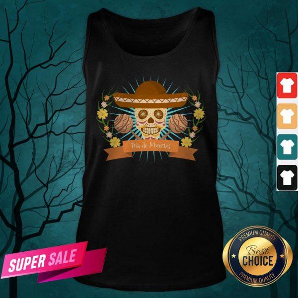Sugar Skull Dia De Muertos Day Dead Mexican Holiday Tank Top
