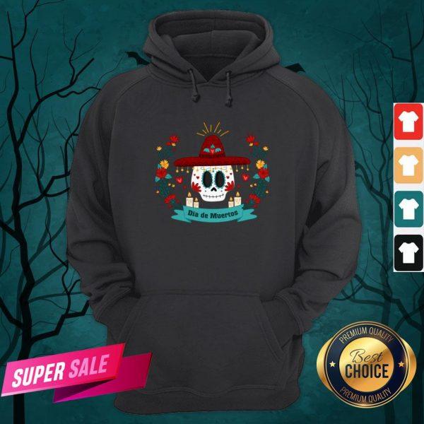 Sugar Skull Dia De Muertos In Mexican Holiday Hoodie