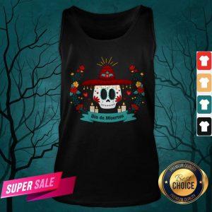 Sugar Skull Dia De Muertos In Mexican Holiday Tank Top