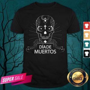 Sugar Skull Simple Dia De Muertos Vintage Shirt