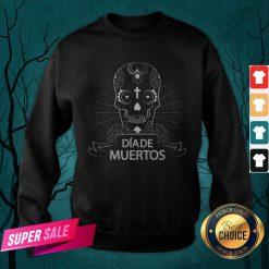 Sugar Skull Simple Dia De Muertos Vintage Sweatshirt