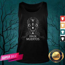 Sugar Skull Simple Dia De Muertos Vintage Tank Top
