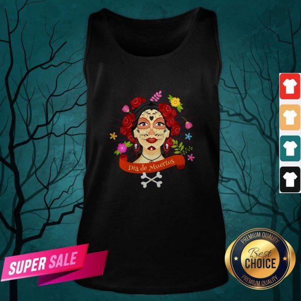 Sugar Skull Woman Dia De Muertos Day Of The Dead Tank Top