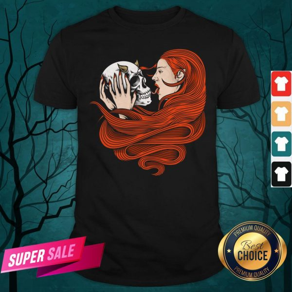 The Girl With Sugar Skull Day Of Dead Shirt