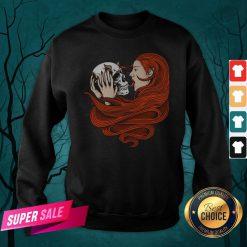The Girl With Sugar Skull Day Of Dead Sweatshirt