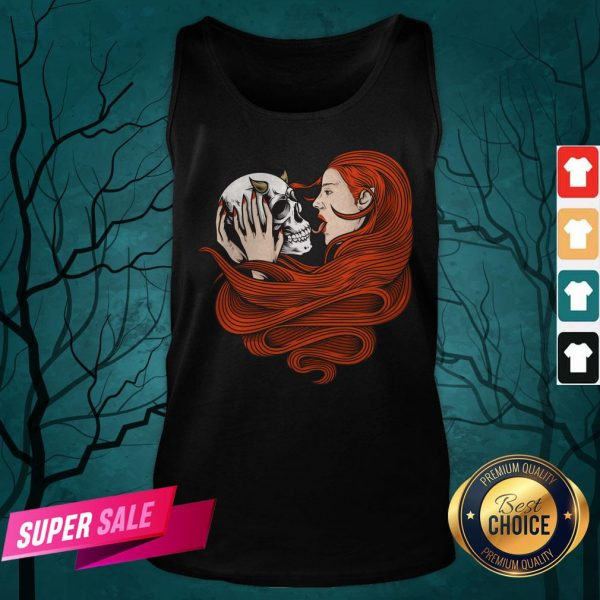 The Girl With Sugar Skull Day Of Dead Tank Top