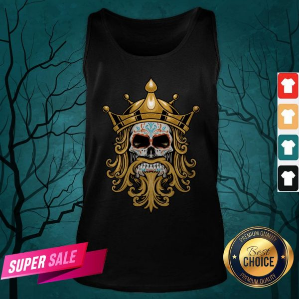The King Sugar Skull Day Of The Dead Tank Top