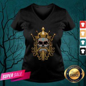 The King Sugar Skull Day Of The Dead V-neck