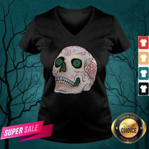 The Mexican Sugar Skull Day Of Dead V-neck