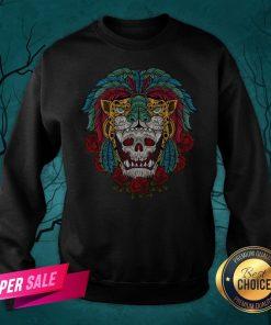 The Mexico Holiday Sugar Skull Dia De Muertos Day Dead Sweatshirt