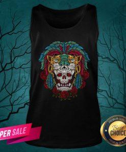 The Mexico Holiday Sugar Skull Dia De Muertos Day Dead Tank Top