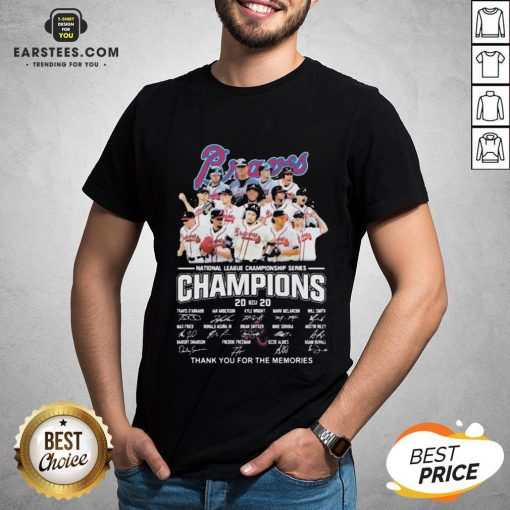 Nice Atlanta Braves National League Championship Series Champions 2020 Thank You For The Memories Signatures Shirt - Design By Earstees.com