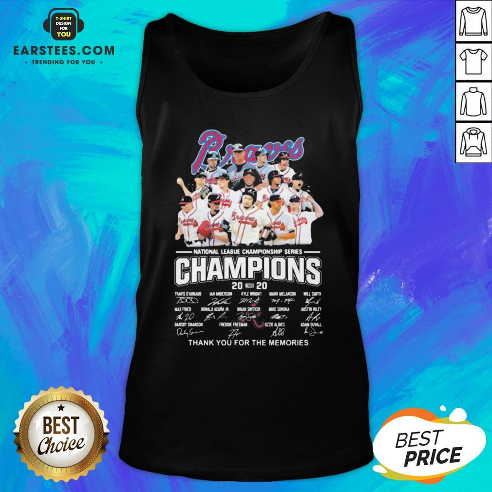 Nice Atlanta Braves National League Championship Series Champions 2020 Thank You For The Memories Signatures Tank Top - Design By Earstees.com