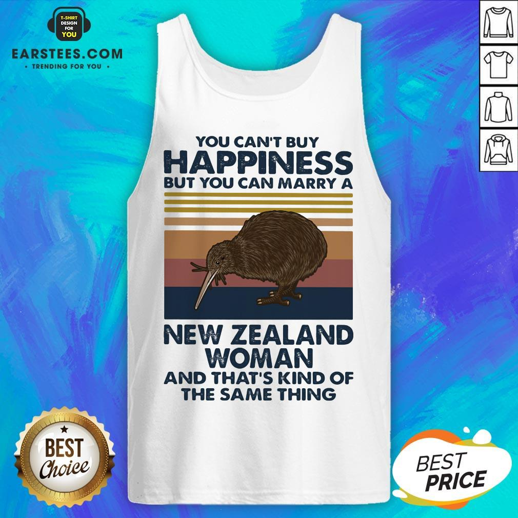 Nice Kiwi Bird You Can't Buy Happiness But You Can Marry A New Zealand Woman Vintage Retro Tank Top - Design By Earstees.com