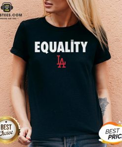 Awesome Equality Los Angeles LA V-neck - Design By Earstees.com