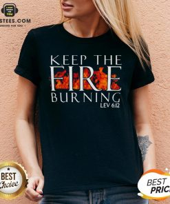 Awesome Keep The Fire Burning Lev 612 V-neck - Design By Earstees.com