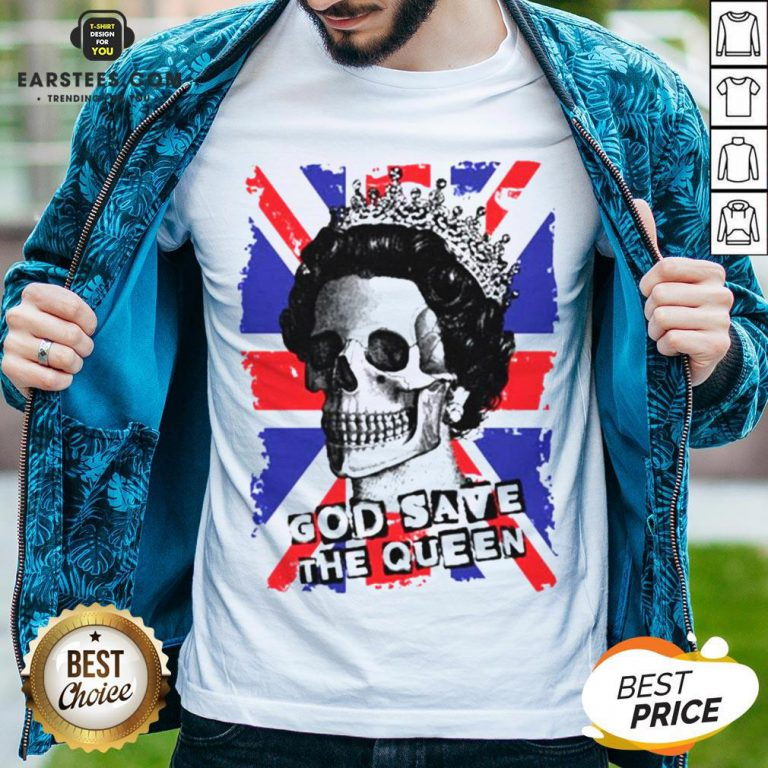 Awesome Skull God Save The Queen American Flag Shirt - Design By Earstees.com