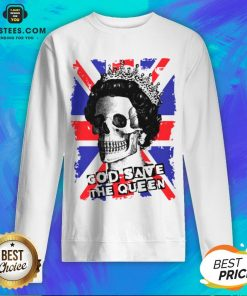 Awesome Skull God Save The Queen American Flag Sweatshirt - Design By Earstees.com