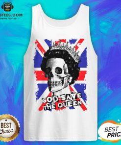 Awesome Skull God Save The Queen American Flag Tank Top - Design By Earstees.com