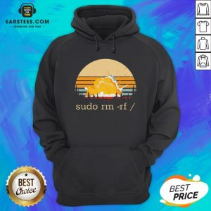 Awesome Sudo Rm Rf Vintage Hoodie - Design By Earstees.com
