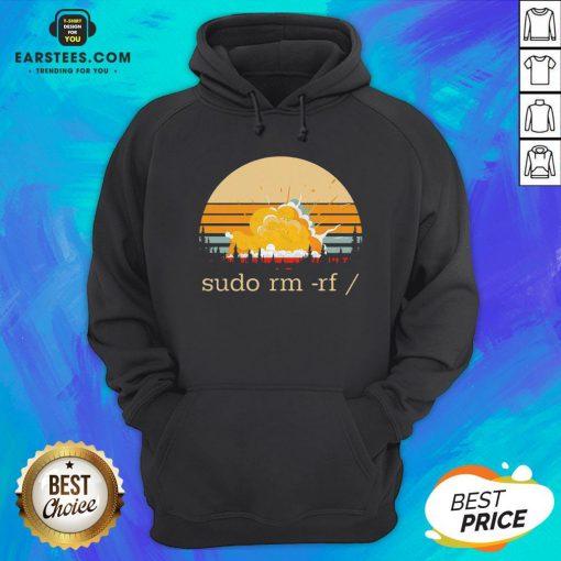 Awesome Sudo Rm Rf Vintage Hoodie - Design By Earstees.com