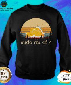 Awesome Sudo Rm Rf Vintage Sweatshirt - Design By Earstees.com