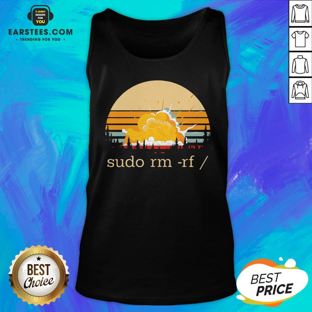 Awesome Sudo Rm Rf Vintage Tank Top - Design By Earstees.com