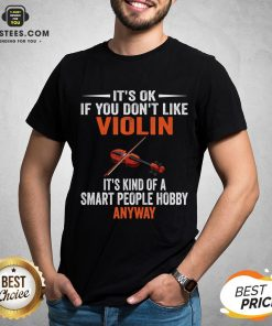 Awesome Violin Player Lovers Gift Smart People Hobby Violin T-Shirt - Design By Earstees.com
