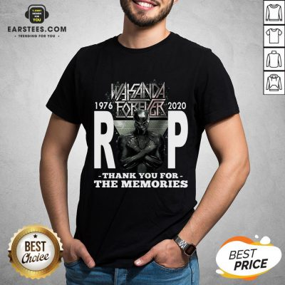 Awesome Wakanda Forever Rip Black Panther 1976 2020 Thank You For The Memories Shirt - Design By Earstees.com