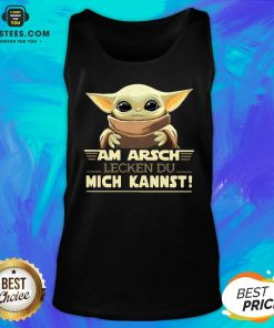 Baby Yoda Am Arsch Lecken Du Mich Kannst Tank Top- Design By Earstees.com
