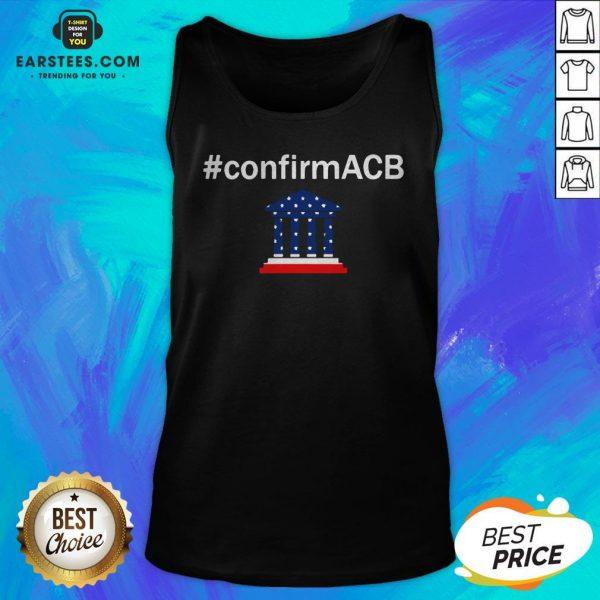 Confirm ACB Amy Coney Barrett Supreme Court America Flag USA Tank Top - Design By Earstees.com