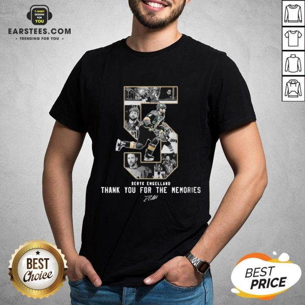 Deryk Engelland Thank You For The Memories Signature Shirt - Design By Earstees.com