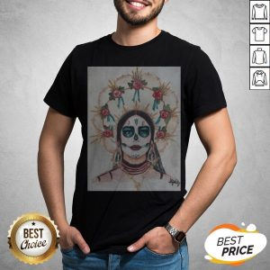 Dia De Los Muertos Day Of The Dead Sugar Skull Premium Scoop Shirt