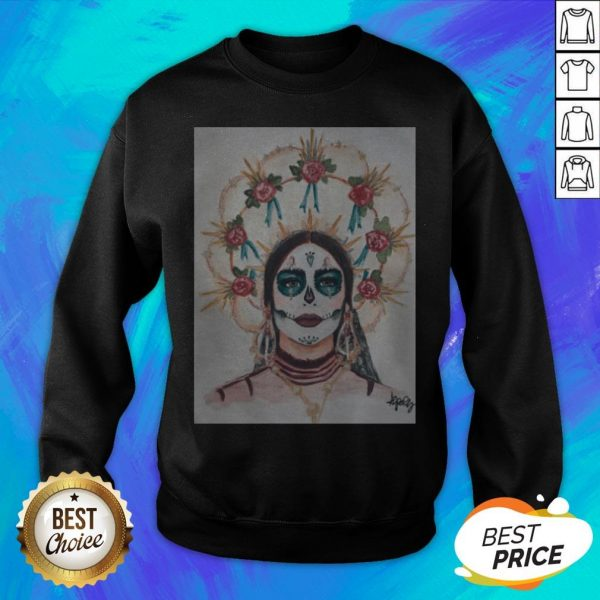 Dia De Los Muertos Day Of The Dead Sugar Skull Premium Scoop Sweatshirt