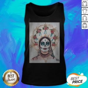 Dia De Los Muertos Day Of The Dead Sugar Skull Premium Scoop Tank Top