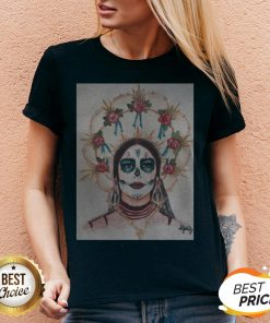 Dia De Los Muertos Day Of The Dead Sugar Skull Premium Scoop V-neck