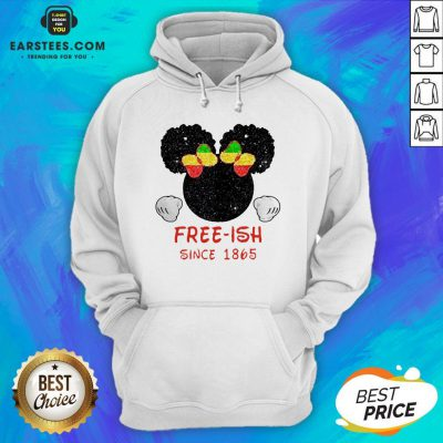 Disney Minnie Mouse Black Free-ish Since 1865 Hoodie- Design By Earstees.com