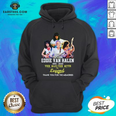 Eddie Van Halen 1955 2020 The Man The Myth The Legend Thank You For The Memories Hoodie - Design By Earstees.com