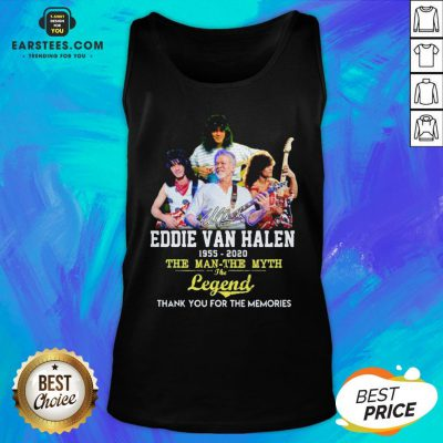 Eddie Van Halen 1955 2020 The Man The Myth The Legend Thank You For The Memories Tank Top - Design By Earstees.com
