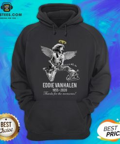 Eddie Van Halen Angle 1955 2020 Signature Thanks For The Memories Hoodie - Design By Earstees.com