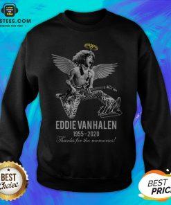 Eddie Van Halen Angle 1955 2020 Signature Thanks For The Memories Sweatshirt - Design By Earstees.com