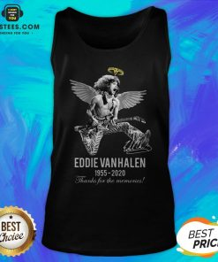 Eddie Van Halen Angle 1955 2020 Signature Thanks For The Memories Tank Top - Design By Earstees.com