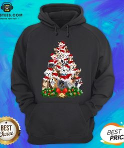 Funny Dogs Tree Merry Christmas Hoodie - Design By Earstees.com