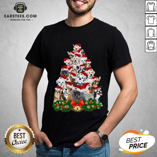 Funny Dogs Tree Merry Christmas Shirt - Design By Earstees.com