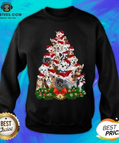 Funny Dogs Tree Merry Christmas Sweatshirt - Design By Earstees.com