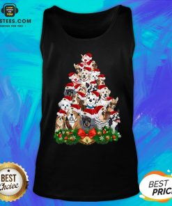 Funny Dogs Tree Merry Christmas Tank Top - Design By Earstees.com