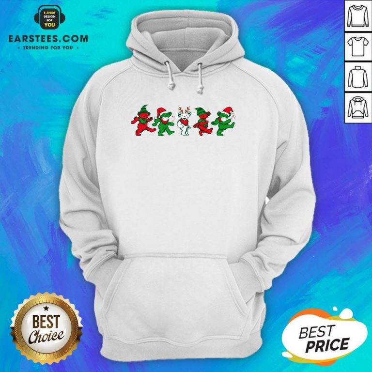 Funny Grateful Dead Bear Christmas Hoodie - Design By Earstees.com
